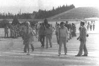 Marcia antimilitarista al sacrario militare di Redipuglia. Franca Rame e Roberto Cicciomessere.