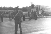 8a marcia antimilitarista Trieste - Aviano. Manifestazione presso il sacrario militare di Redipuglia.