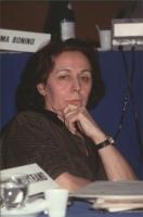"""""""Marie Andrée Bertrand. (Canada) al 36° congresso PR con cartellino """"""""iscritta""""""""."""" 532 bis. Altre su carta."""