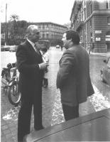 Marco Pannella e Lanfranco Pace (affiliato ad Autonomia Operaia).