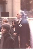Marco Pannella (presumibilmente nel corso della marcia di Pasqua 1980).