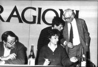 32° Congresso del PR. Adelaide Aglietta, Alexandre De Perlinghi, Marco Pannella.