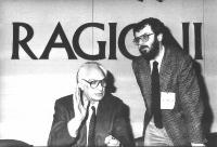 Marco Pannella e Peppino Calderisi, al 32° Congresso del PR.