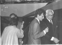 Alexandre De Perlinghi e Marco Pannella.