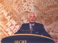 Marco Pannella, alla tribuna dell'hotel Ergife.
