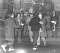In fondo a destra: Marco Pannella (presumibilmente anni '70).