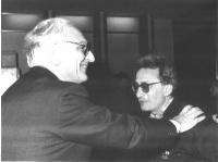 Marco Pannella e Alberto Franceschini (ex-BR, iscritto al Partito Radicale).
