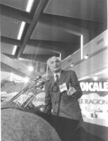 32° Congresso. Marco Pannella alla tribuna.