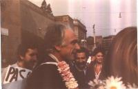 Marco Pannella a Porta Pia (marcia di Pasqua 1980)