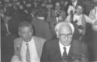 In primo piano, a destra, Marco Pannella.
