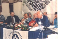 Consiglio Federale a Gerusalemme. ???, ???, Sergio Stanzani, Marco Pannella.