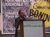 """Assemblea radicale: """"VERSO IL PROGETTO POLITICO-ELETTORALE DEL 2001"""". Alla tribuna: ????"""