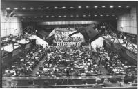 35° congresso PR. Visione complessiva della sala con banner e logo PR (BN) buona
