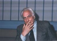 Marco Pannella in uno studio televisivo.