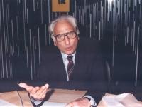 Marco Pannella, in uno studio televisivo.