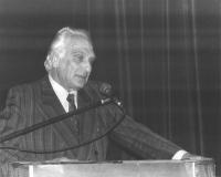 Marco Pannella alla tribuna del 35° Congresso.