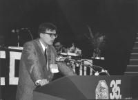 35° congresso PR. Zoran Taler. (slovenia) interviene dalla tribuna (BN)