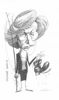VIGNETTA Emma Bonino (commissario europeo con il portafoglio per la pesca), pesca una scarpa rotta.