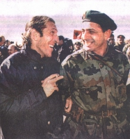 Antonio Russo e un soldato croato.