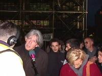 André Glucksmann ed Emma Bonino, nel corso di una manifestazione contro la violazione dei diritti umani nella guerra in Cecenia, in occasione di una v