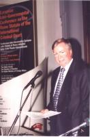 Philippe Kirsch. Conferenza Europea sullo Statuto di Roma istitutivo della Corte Penale Internazionale.