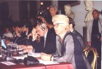 Conferenza Europea sullo Statuto di Roma istitutivo della Corte Penale Internazionale. In primo piano: Carla Del Ponte.