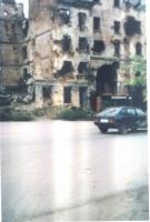 Casa crollata in Cecenia.