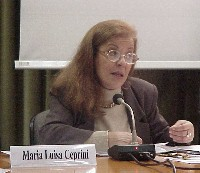 Maria Luisa Ceprini (al convegno, promosso dalla Lista Bonino, PENSIONI: UNA BOMBA AD OROLOGERIA).