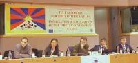 3° seminario europeo sul Tibet, promosso dal Partito Radicale, e dal gruppo parlamentare radicale al Parlamento Europeo. Vista del banner (FULL AUTONO
