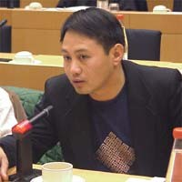 3° seminario europeo sul Tibet, al Parlamento Europeo. Tenzin KUNCHAP, Francia, scrittore.