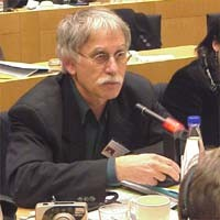 3° seminario europeo sul Tibet, al Parlamento Europeo. Helmut STECKEL, Germany, Tibet Initiative Deutschland