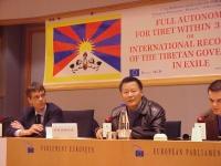 Olivier Dupuis e Wei Jingsheng, al 3° seminario europeo sul Tibet.