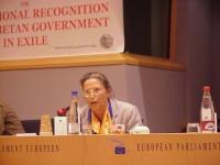 3° seminario europeo sul Tibet, al Parlamento Europeo. Eliane COMPIGNY, France, France Tibet