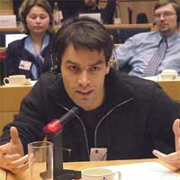 3° seminario europeo sul Tibet al Parlamento Europeo. Vincent COPPEY, Svizzera, Jeunesse tibètaine
