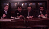 Conferenza stampa al Senato con Paolo Pietrosanti ed Emil Scuka (presidente dell'Unione Internazionale dei Rom).