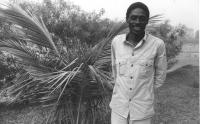 """foto piano americano di Basile Guissou Ex ministro degli esteri del Burkina Faso.  (BN)  Foto per """"Panorama""""."""