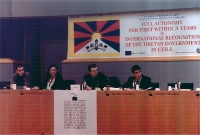 3° seminario europeo sul Tibet al Parlamento Europeo. Mathieu VERNEREY, France, Tibet-Lions des Neiges - Mrs Kunsang YUTHOK, Rappresentative of H.H. i