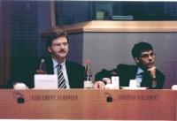 Thomas Mann e Olivier Dupuis al 3° seminario europeo sul Tibet.