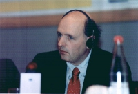 Georges D'Allemagne, senatore belga del PSC, al 3° seminario europeo sul Tibet al PE.