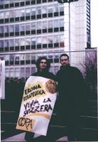 Giuliano Pastori e Diego Sabatinelli, a una manifestazione antiproibizionista.
