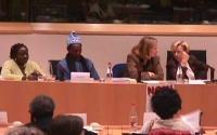 Giornata internazionale contro le mutilazioni genitali femminili. Emma Bonino, Lousewies Van der Laan, Demba Diawara.