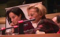 Giornata internazionale contro le mutilazioni genitali femminili. Anna Diamantopoulou (commissario europeo) ed Emma Bonino.