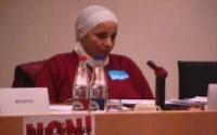 Giornata mondiale contro le mutilazioni genitali femminili. Convegno al Parlamento Europeo. Mona El Tobgui (Egyptian Society for Prevention of Harmful
