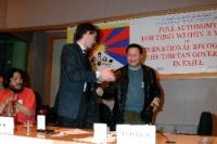 3° seminario europeo sul Tibet. Olivier Dupuis e Wei Jingsheng (di lato a sinistra: Tsewang NORBU, Germany, Heinrich Boell Stiftung).
