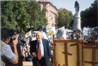 Manifestazione anticlericale davanti a porta Pia. Sergio Stanzani.