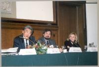 Corso di formazione sul tribunale penale internazionale. Al tavolo: Roy S. Lee (segretario esecutivo della Conferenza di Roma, docente di diritto inte