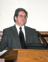 Corso di formazione sul tribunale penale internazionale. Alla tribuna: Bill Pace (coordinatore delle NGO per il tribunale penale internazionale).