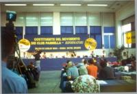 Assemblea costituente del movimento dei club Pannella. Veduta del banner.