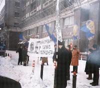 Manifestazione contro il finanziamento pubblico dei partiti.