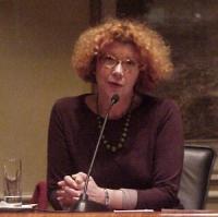 """Convegno contro le mutilazioni genitali femminili, intitolato """"Stop FGM!"""". Eugenie Czorny, antropologa."""